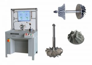 Equilibradora de rotores de turbocompresor